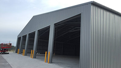 range commercial shed - Services